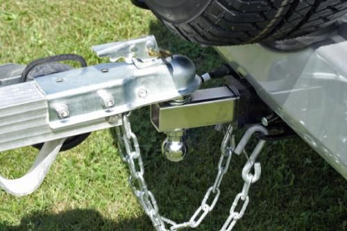A tow hitch attached to a car